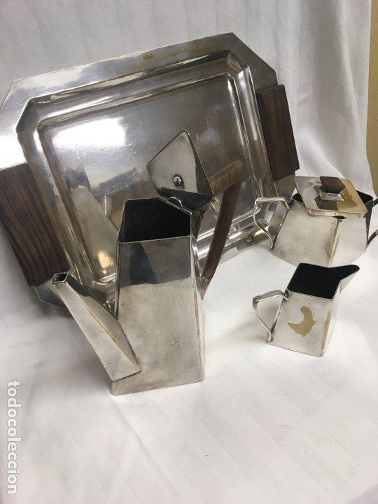 Antigüedades: Juego café plata inglesa años 20/30 - Foto 2 - 183772596