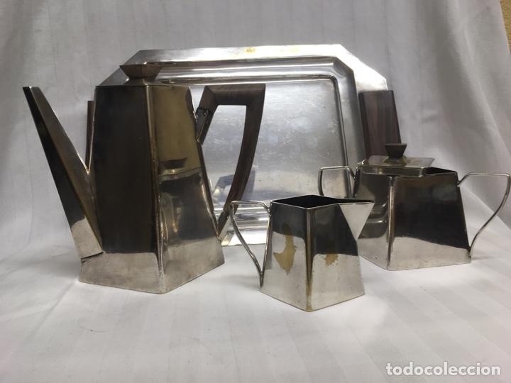 Antigüedades: Juego café plata inglesa años 20/30 - Foto 3 - 183772596
