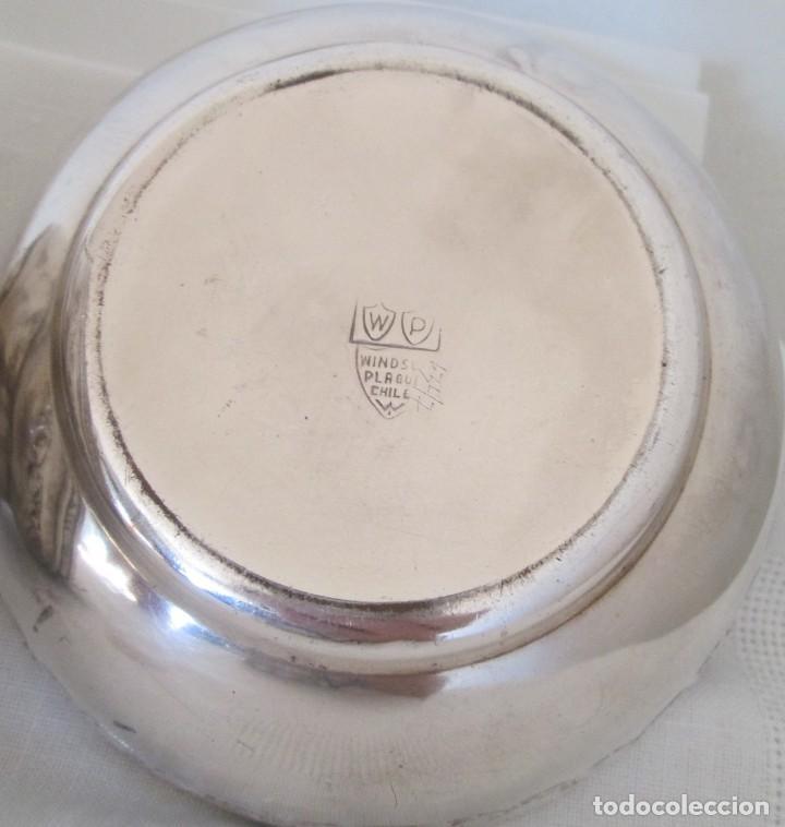 Antigüedades: Preciosas dos piezas de antiguo juego de tocador. Polvera y joyero/guarda algodones, en plaque - Foto 9 - 183773293