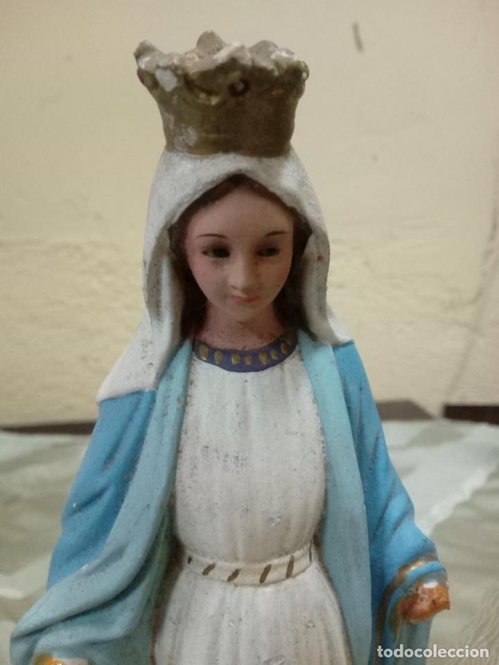 Antigüedades: Excelente virgen milagrosa medidas - Foto 2 - 183776511