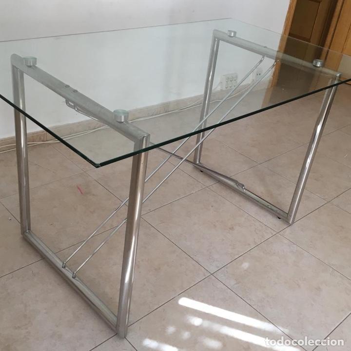 Antigüedades: Mesa cristal templado - Foto 2 - 183780597