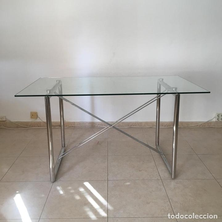 Antigüedades: Mesa cristal templado - Foto 3 - 183780597