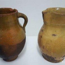 Antigüedades: PUCHERO Y JARRA CERÁMICA ESPAÑOLA EXTINGUIDA.. Lote 183781687