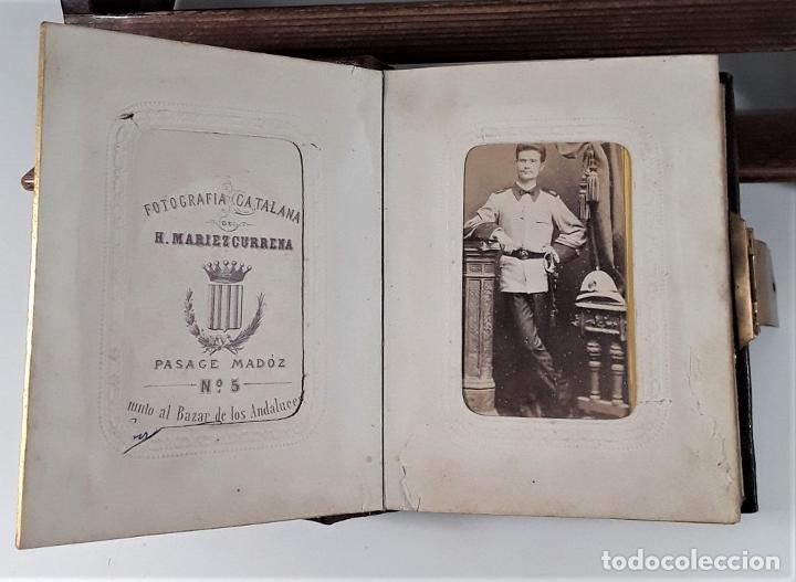 Antigüedades: ÁLBUM DE FOTOGRAFÍAS EN PIEL, CON METAL DORADO. ESPAÑA. SIGLO XIX-XX. - Foto 16 - 183791702