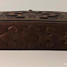 Antigüedades: ÁLBUM DE FOTOGRAFÍAS EN PIEL, CON METAL DORADO. ESPAÑA. SIGLO XIX-XX.. Lote 183791702