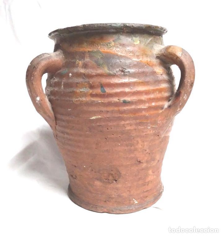 ORZA ZONA LEVANTE TRAIGUERA FINALES S XIX, BUEN ESTADO. MED. 17 X 19 CM (Antigüedades - Porcelanas y Cerámicas - Algora)