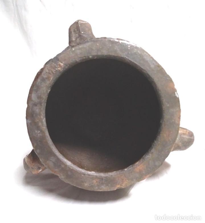 Antigüedades: Orza Zona Levante Traiguera finales S XIX, buen estado. Med. 17 x 19 cm - Foto 4 - 183792852