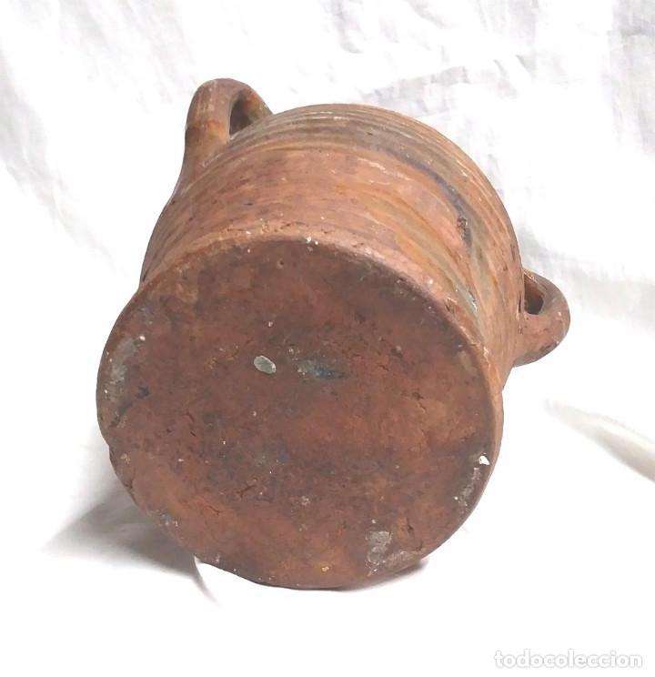 Antigüedades: Orza Zona Levante Traiguera finales S XIX, buen estado. Med. 17 x 19 cm - Foto 5 - 183792852