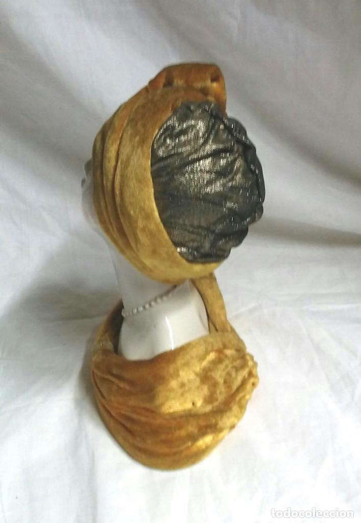 Antigüedades: Busto Mujer Belle Epoque, cerámica Hermanos Ingles Valencia. Med. 14 x 19 cm - Foto 2 - 183793002