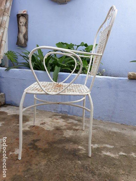 Antigüedades: Antigua silla sillón de hierro para jardin - Foto 2 - 183798276