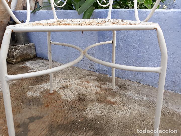 Antigüedades: Antigua silla sillón de hierro para jardin - Foto 5 - 183798276