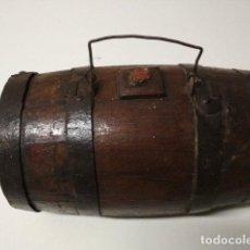 Antigüedades: ANTIGUO BARRIL TONEL EN MADERA Y FORJA. Lote 183798420