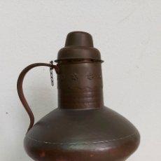 Antigüedades: JARRON BOTIJO DE COBRE DE GUADALUPE CACERES. Lote 183798811