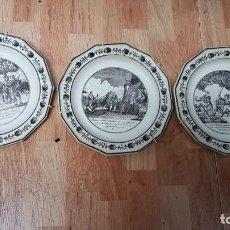 Antigüedades: 3 PLATOS DE PAILLARD & HAUTIN . Lote 183799527