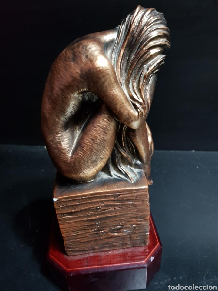 Antigüedades: Figura Resina patinada en Bronce por Miguel Senserrich (1933) - Foto 3 - 183801031