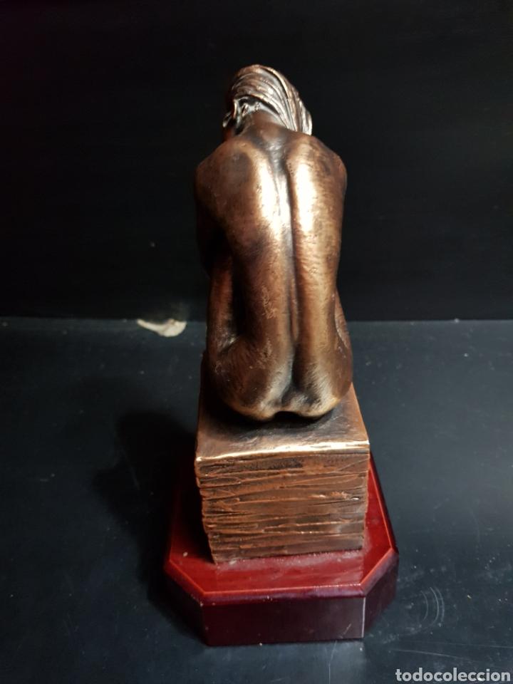 Antigüedades: Figura Resina patinada en Bronce por Miguel Senserrich (1933) - Foto 4 - 183801031