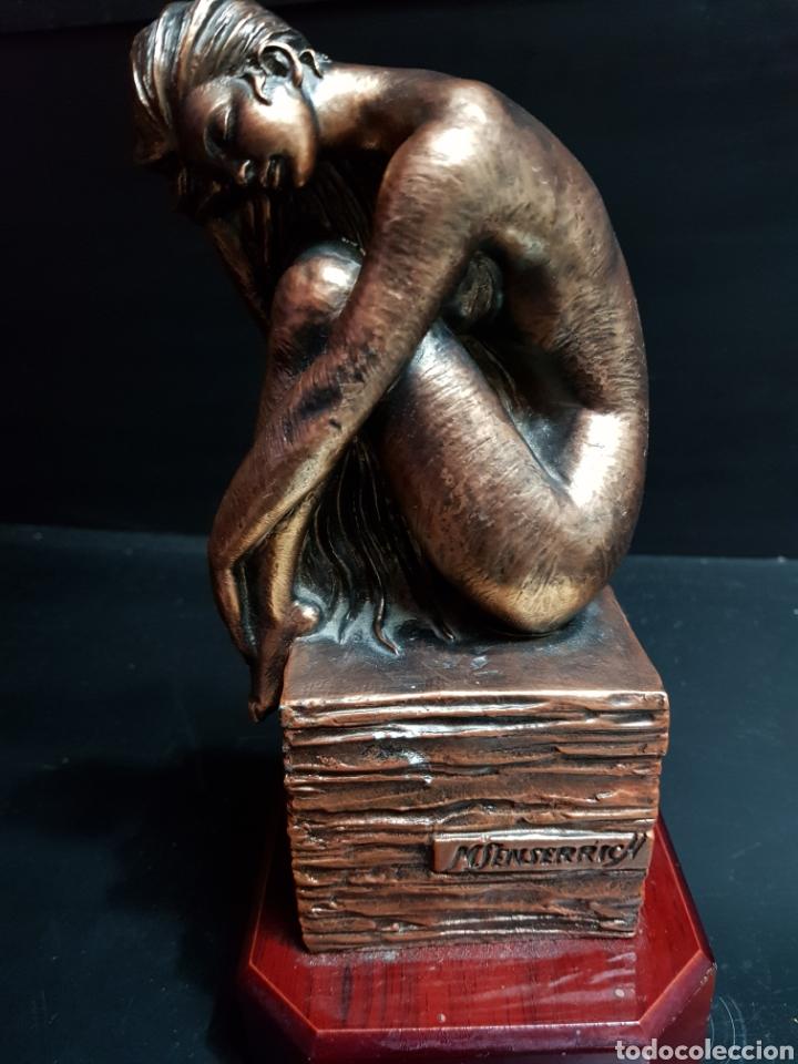 Antigüedades: Figura Resina patinada en Bronce por Miguel Senserrich (1933) - Foto 5 - 183801031