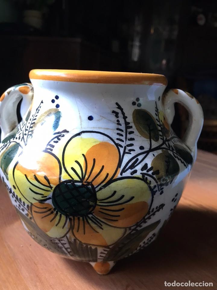 Antigüedades: Pote de Marca GARLAZ Manises, antiguo - Foto 2 - 183813967