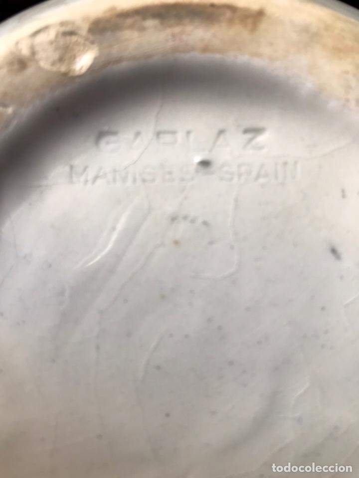 Antigüedades: Botijo marca GARLAZ Manises antiguo - Foto 6 - 183814130