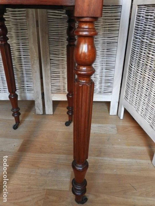 Antigüedades: MESA DE ALAS DE CAOBA DE EPOCA LUIS FELIPE 1840 - Foto 11 - 183816667