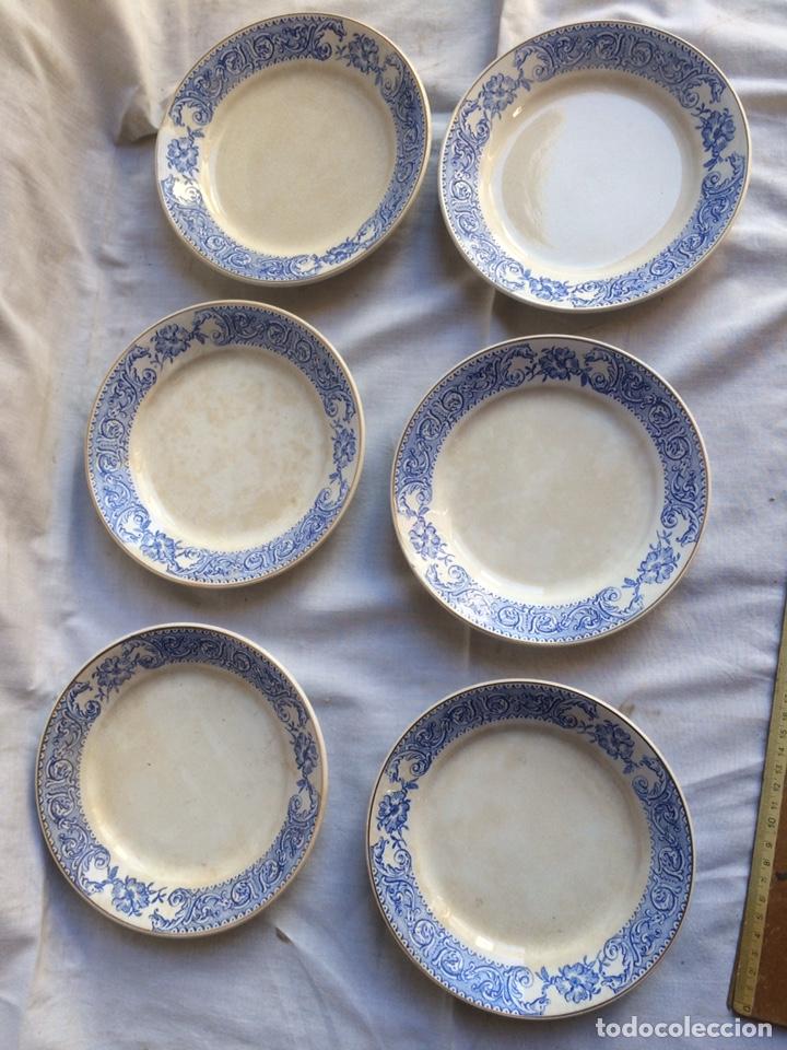 LOTE DE 6 PLATOS ANTIGUOS! (Antigüedades - Porcelanas y Cerámicas - San Claudio)