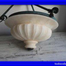 Antigüedades: LAMPARA DE ALABASTRO MUY DECORATIVA. Lote 183816930
