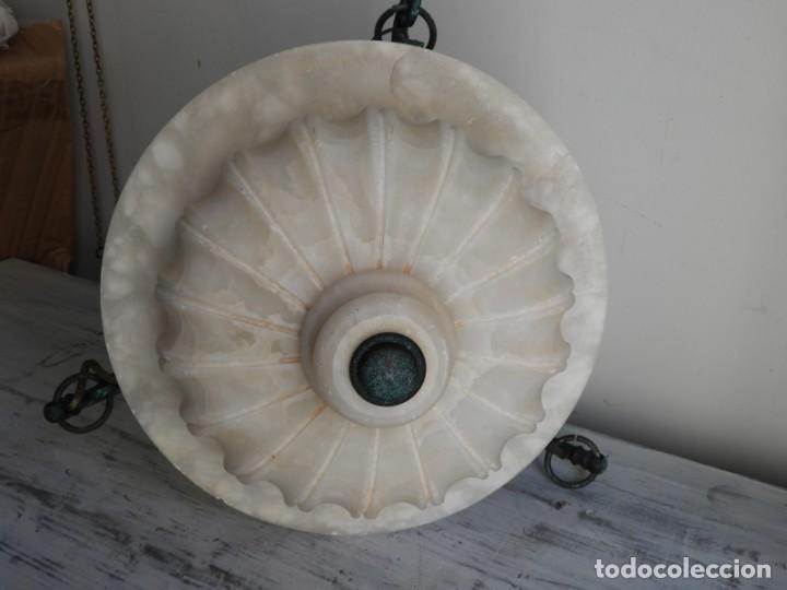 Antigüedades: LAMPARA DE ALABASTRO MUY DECORATIVA - Foto 5 - 183816930