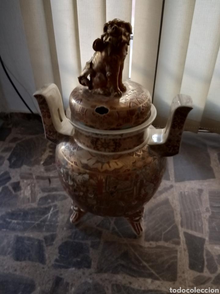 INCENSARIO PORCELANA JAPONESA SATSUMA (Antigüedades - Porcelana y Cerámica - Japón)