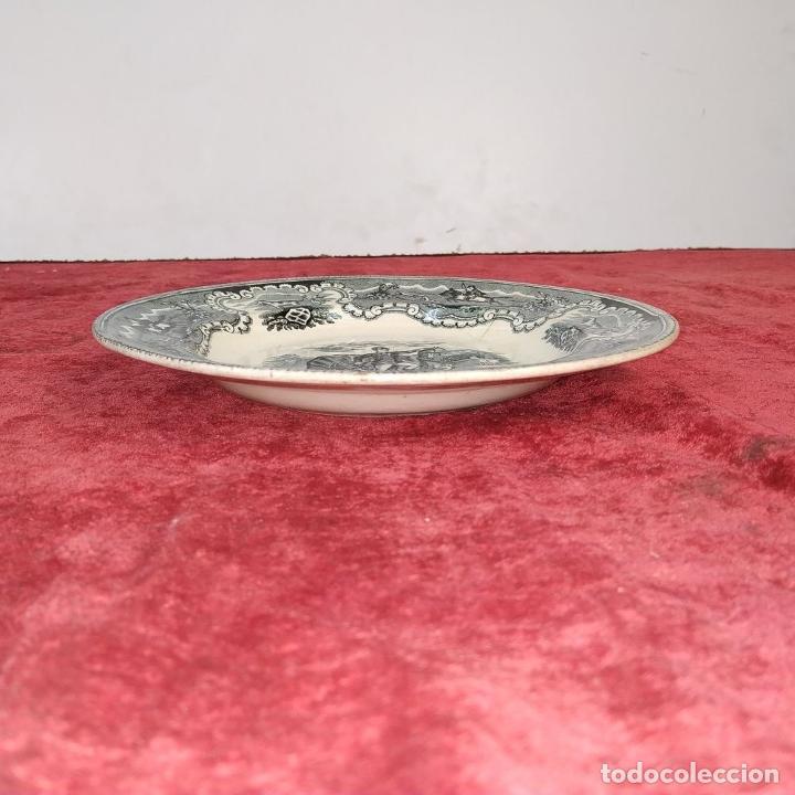 Antigüedades: PLATO SOPERO. LOZA ESMALTADA. MARCAS DE LA CARTAGENERA. ESPAÑA. SIGLO XIX - Foto 4 - 198104211