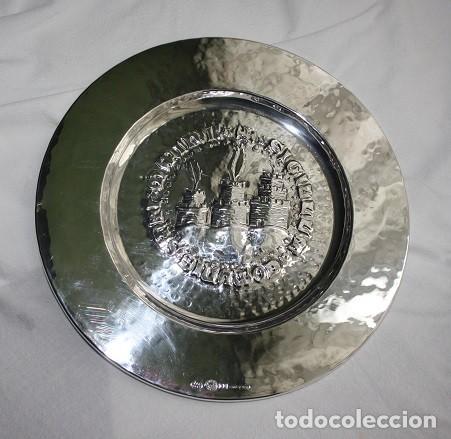 Antigüedades: 14, PRECIOSO Y RARO PLATO DE PLATA CON ESCUDO DE SAN MARINO, G. ARZILLI S.A. GIOELLERIA SAN MARINO - Foto 4 - 183819901