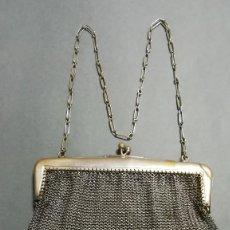 Antigüedades: BOLSO DE BODA METALICO ANTIGUO. Lote 183821061