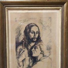 Antigüedades: JESÚS PINTADO AL CARBONCILLO. Lote 183823775