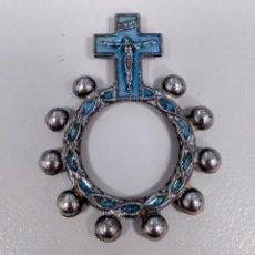 Antigüedades: ROSARIO DE DEDO ANTIGUO RELIGIOSO - AD22. Lote 183824543