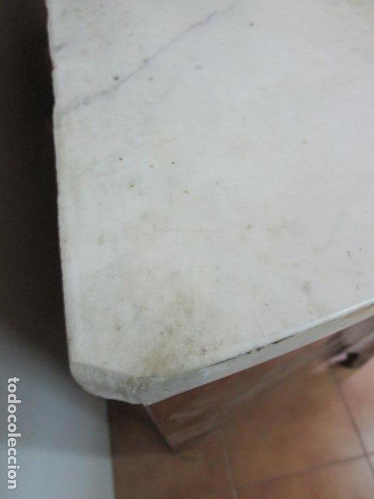 Antigüedades: Antigua Cómoda Bombeada - Luis XV - Madera de Caoba y Jacarandá - Sobre de Mármol -Principios S. XIX - Foto 29 - 183824693