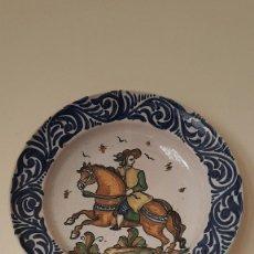 Antigüedades: ANTIGUO GRAN PLATO FIRMADO SANGUINO,TOLEDO, PRIMERA EPOCA. TAL CUAL SE VE.. Lote 183825285