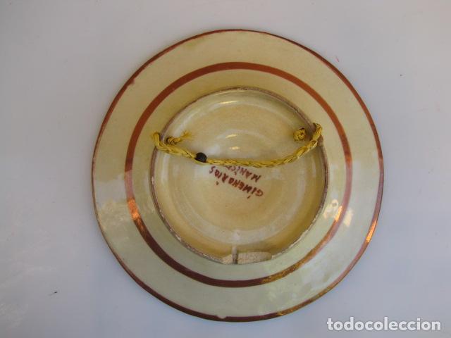Antigüedades: Plato reflejos manises Jimeno Rios - Foto 2 - 183830820