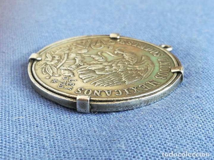 Antigüedades: Colgante con Moneda 25 pesos Estados unidos mexicanos 1968 en plata de ley 720 - Foto 4 - 183831787
