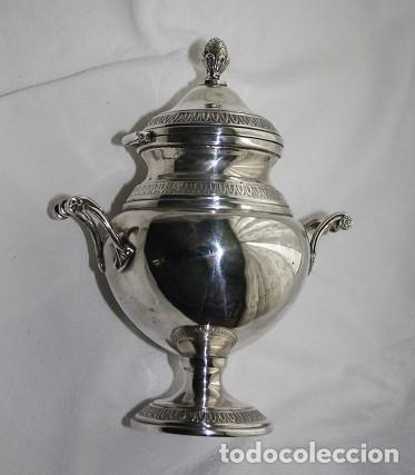 Antigüedades: 45,, PRECIOSA ANTIGUA PIEZA DE PLATA TIPO AZUCARERO - Foto 2 - 183832701