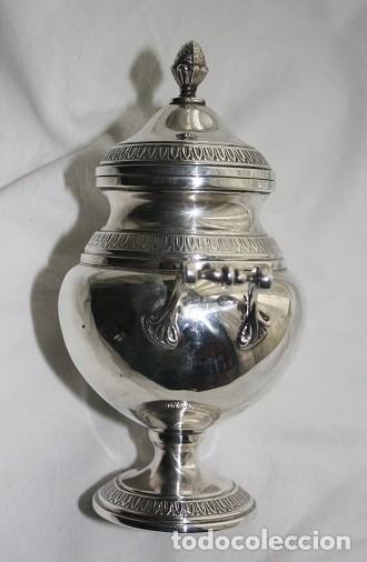 Antigüedades: 45,, PRECIOSA ANTIGUA PIEZA DE PLATA TIPO AZUCARERO - Foto 3 - 183832701