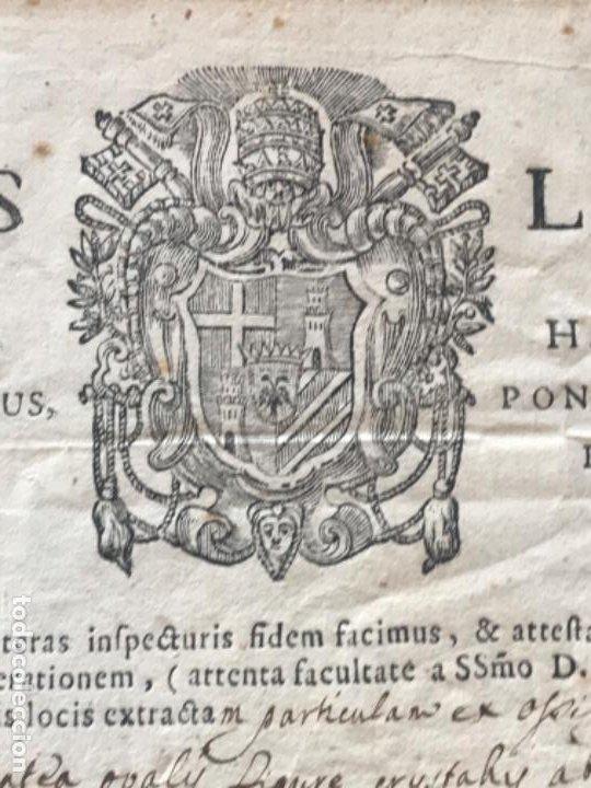 Antigüedades: CERTIFICADO DE RELIQUIA 1768. SAN IGNACIO DE LOYOLA. SELLO SECO. - Foto 8 - 183845358