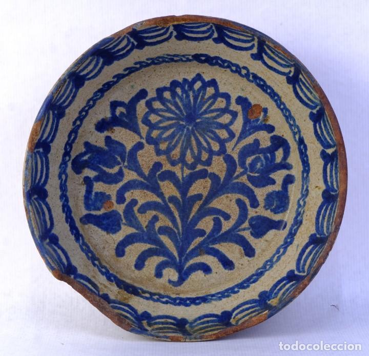 FUENTE EN CERÁMICA DE FAJALAUZA GRANADA SIGLO XIX (Antigüedades - Porcelanas y Cerámicas - Fajalauza)
