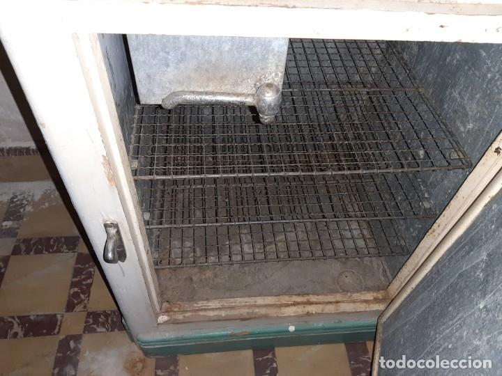 Antigüedades: nevera de hielo marca gelat - Foto 4 - 183860032