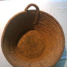 Antigüedades: ESCRIÑO, ESPORTON, CAPAZO, CESTO DE ESPARTO Y CENTENO. Lote 183865912