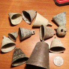 Antigüedades: LOTE CAMPANAS ANTIGUAS. Lote 183876910