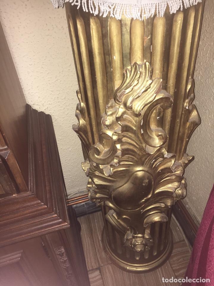 Antigüedades: Columnas madera y pan de oro - Foto 2 - 183878190