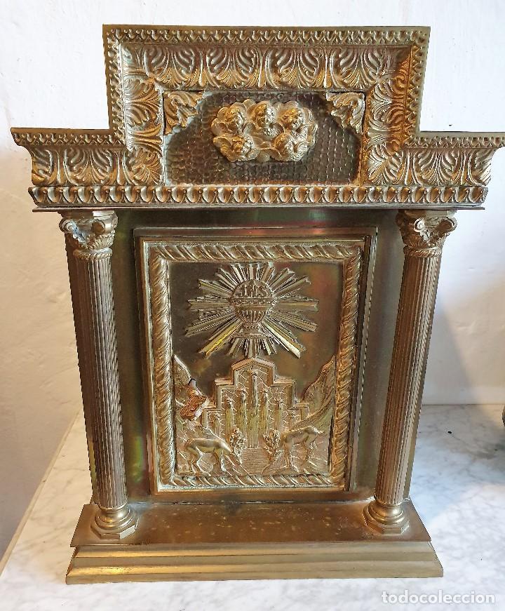 SAGRARIO DE BRONCE (Antigüedades - Religiosas - Relicarios y Custodias)