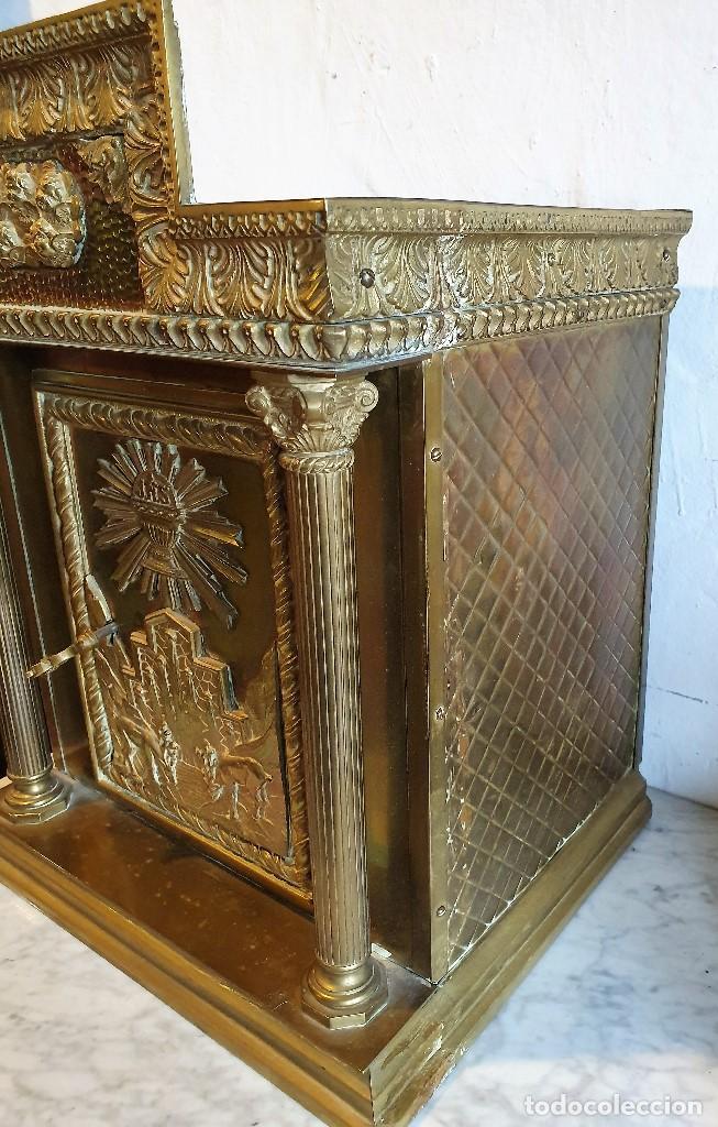 Antigüedades: SAGRARIO DE BRONCE - Foto 4 - 183882411