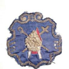 Antigüedades: SEMANA SANTA SEVILLA ANTIGUO ESCUDO DE NAZARENO DE LA HINIESTA. Lote 183883046