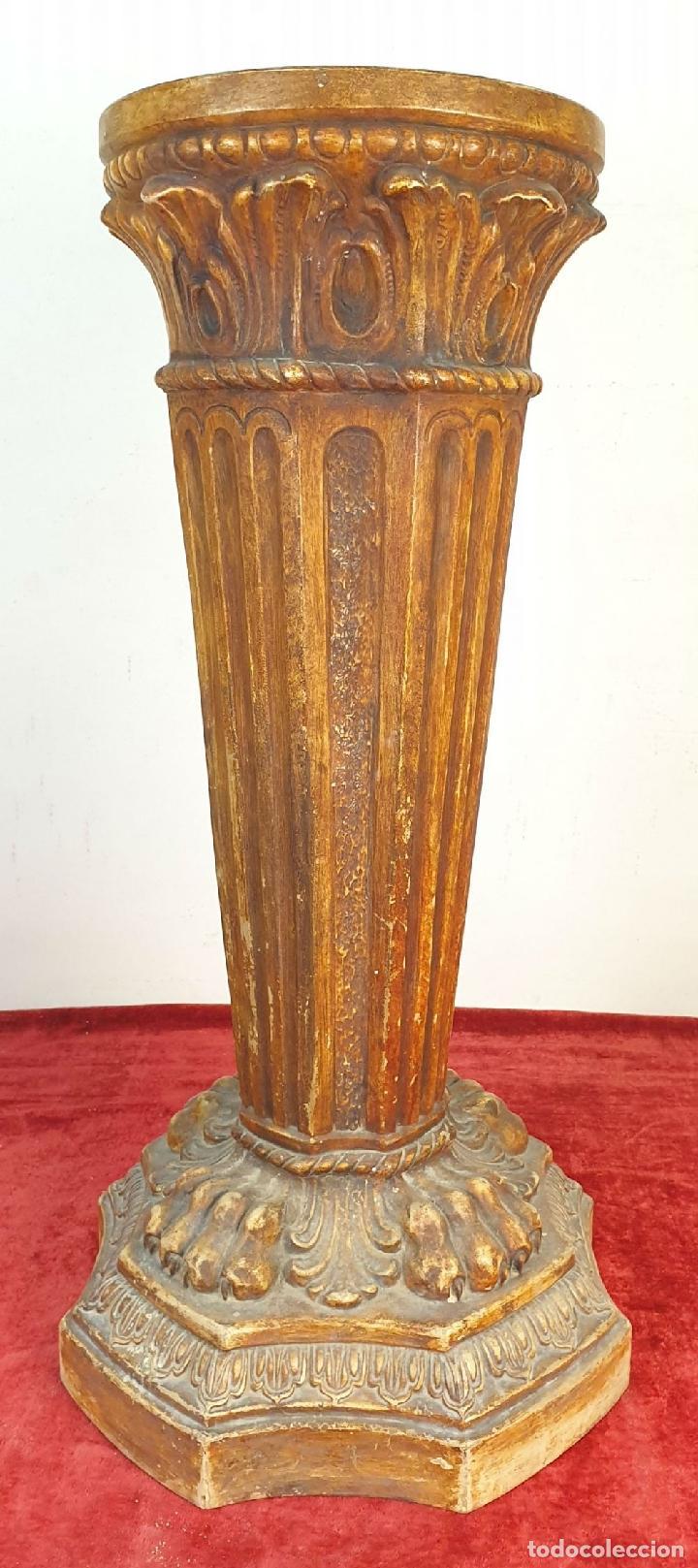 Antigüedades: GRAN JARRÓN CON PEANA. CERÁMICA ESMALTADA. TALAVERA. SIGLO XIX-XX. - Foto 17 - 183886468