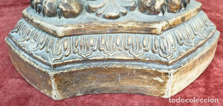Antigüedades: GRAN JARRÓN CON PEANA. CERÁMICA ESMALTADA. TALAVERA. SIGLO XIX-XX. - Foto 27 - 183886468
